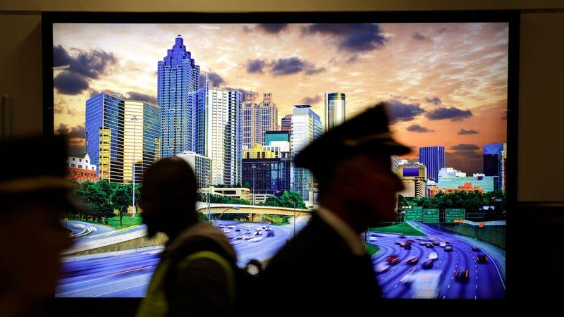 An image of the city skyline at Hartsfield-Jackson Atlanta International Airport.