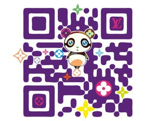 Illustration for article titled Takashi Murakami and Louis Vuitton Create First Designer QR Code