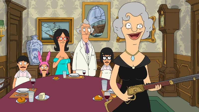 """Illustration for article titled Bob's Burgers: """"An Indecent Thanksgiving Proposal"""""""