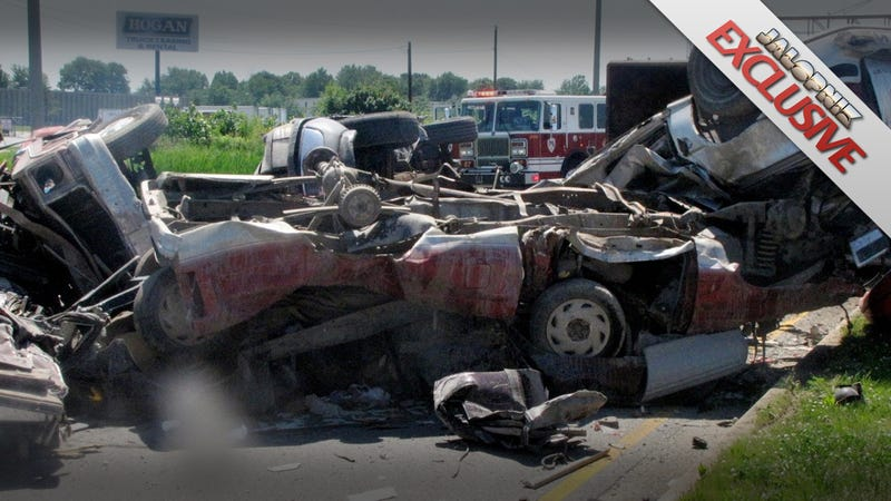 Illustration for article titled How did no one die in this horrific crash?