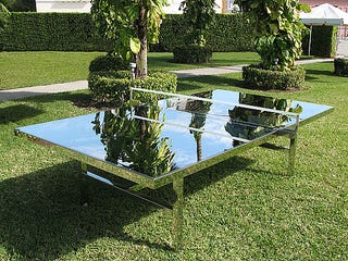 Illustration for article titled Mirrored Ping Pong Table is Great for Swinging Bachelors and Flashy Drug Dealers