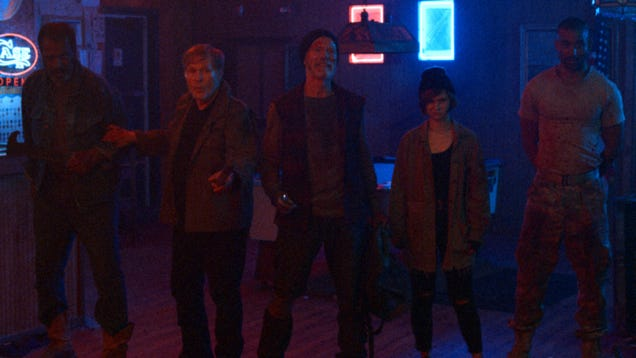 Drenched in grit, gore, and neon, VFW is an action throwback that hits all the right notes