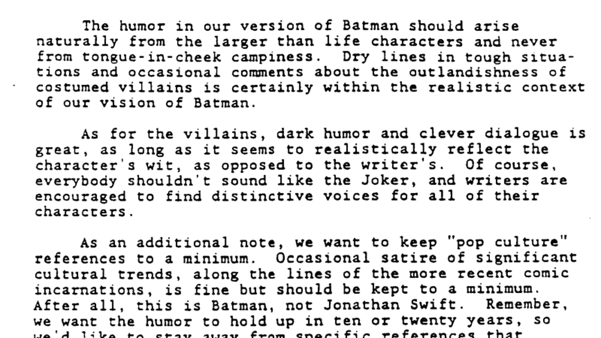 Proof That the Creators of Batman: The Animated Series Knew