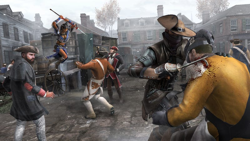 Illustration for article titled Get Stabby With Your Friends in Assassin's Creed III's Online Co-Op Mode
