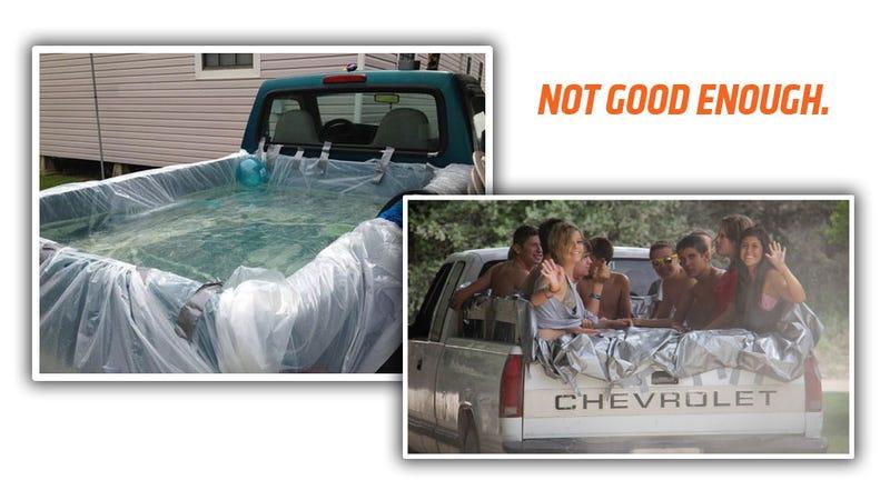 Illustration for article titled We Deserve Better Pickup Truck Hot Tubs, Dammit