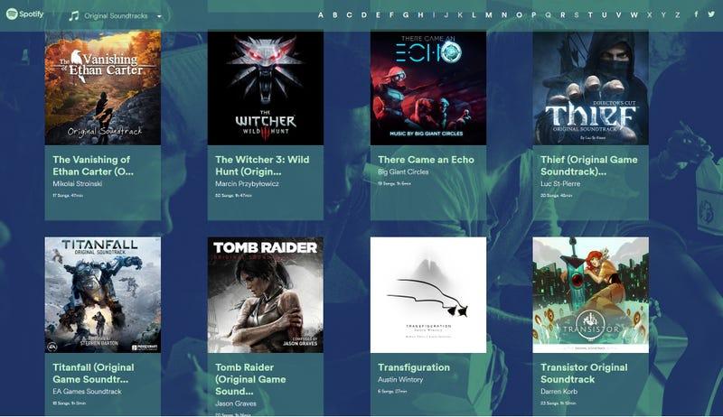 Ahora podrás encontrar las bandas sonoras de tus juegos favoritos en esta web de Spotify