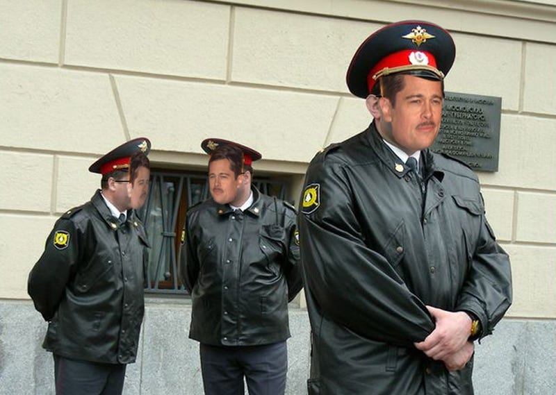 Illustration for article titled In Soviet Russia, Brad Pitt Pulls Over You!