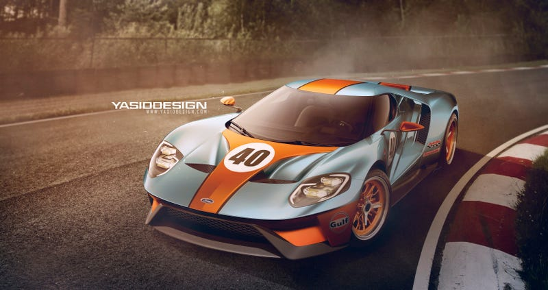 Illustration for article titled Gulf Ford GT