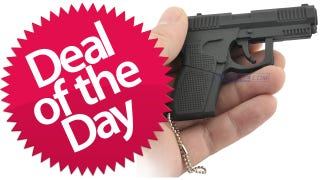 Illustration for article titled The Gun Shaped USB Flash Drive Is Your Leave-This-Peripheral-At-Home Deal of the Day