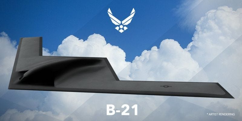 Illustration for article titled The Cost Of The B-21 Bomber Is Secret For Security Reasons, Which Is Convenient