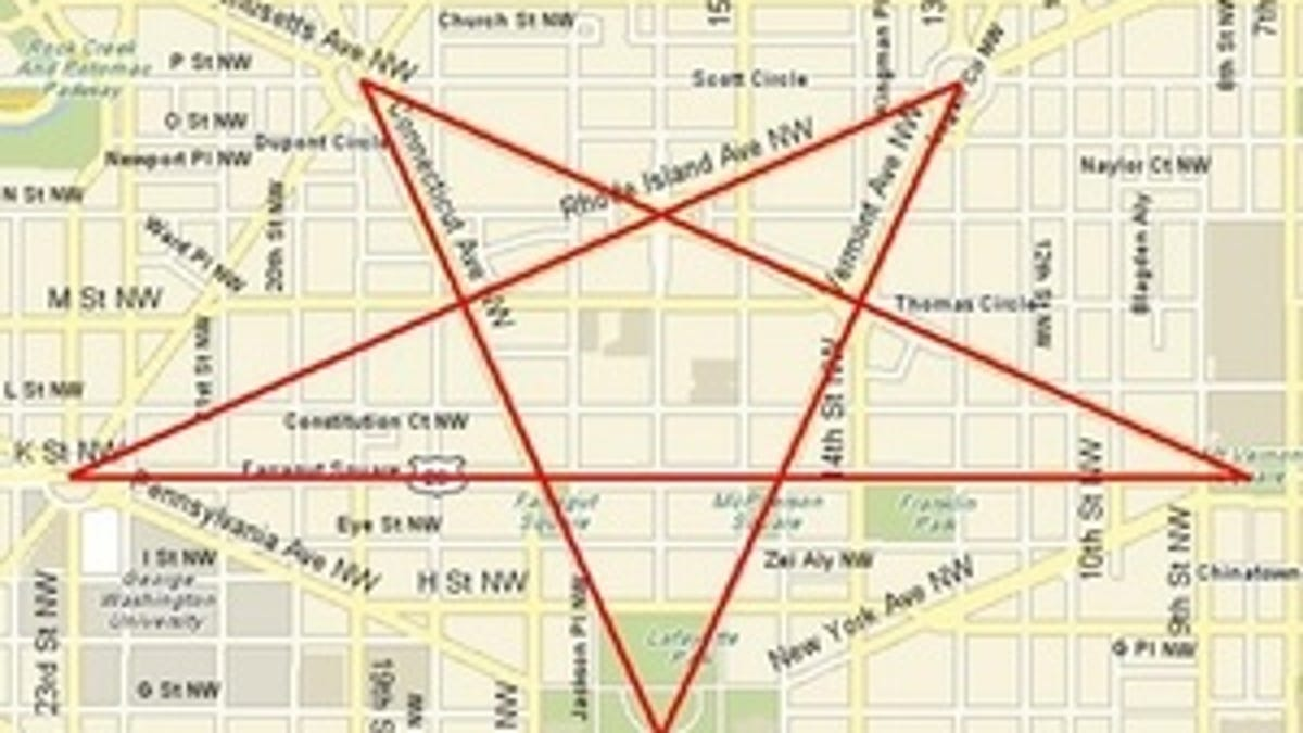 Are The Streets Of Washington Dc Supposed To Form A Pentagram