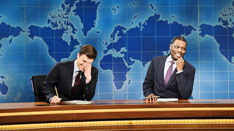 Illustration for article titled Michael Che and Colin Jost will stick around as SNL's co-head writers