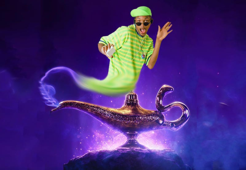 Illustration for article titled Choose Wisely: Will Smith Teases Role As Genie in Live-Action Aladdin Remake