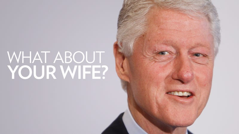 Illustration for article titled Bill Clinton Had His Picture Taken with Some Porn Stars and of Course It's All About Hillary
