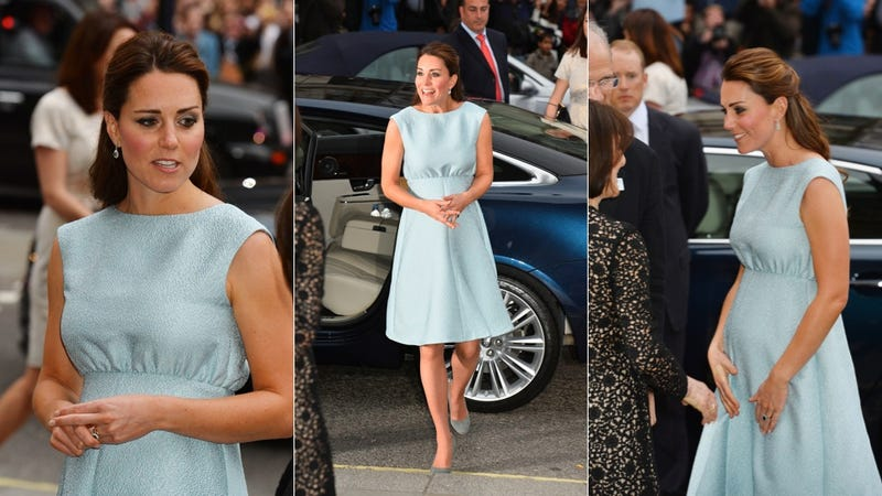 Illustration for article titled Duchess Kate Wears Baby Blue, What Does It Meeeeean?
