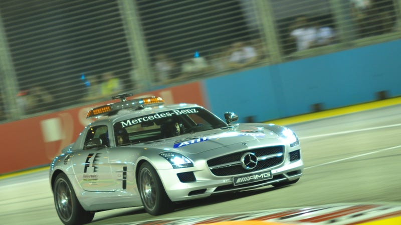 Illustration for article titled Your Ridiculously Awesome Mercedes SLS AMG F1 Safety Car Wallpaper Is Here