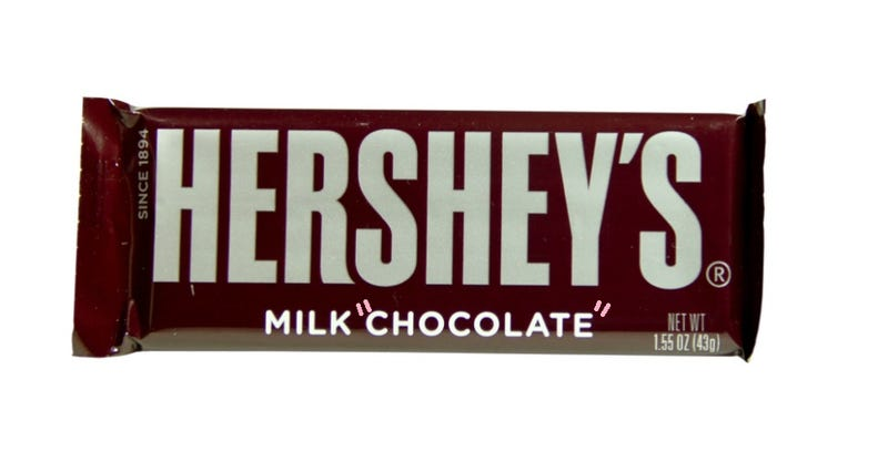 Illustration for article titled Hershey's Bullies Importers Into Ceasing Flow of British Candy