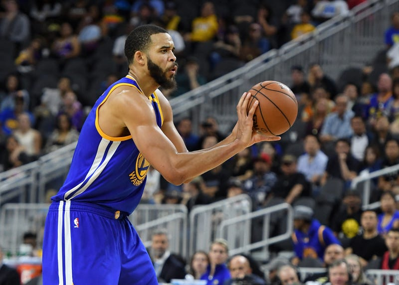 JaVale McGee of the Golden State Warriors  during a preseason game Oct. 15, 2016, in Las Vegas  Ethan Miller/Getty Images