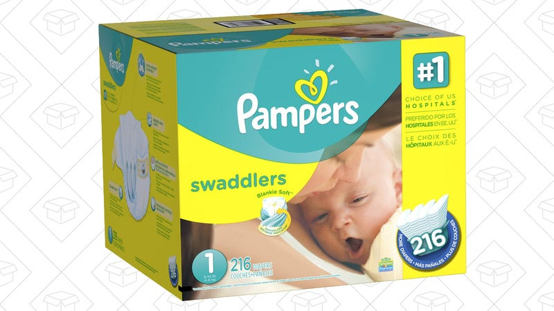 216 Pampers Swaddlers newborn diapers, $24 with Subscribe & Save and $2 coupon