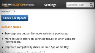 Illustration for article titled Amazon Appstore Now Makes You Click Twice to Buy