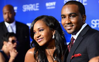 Bobbi Kristina Brown and Nick Gordon arrive at Tri-Star Pictures' Sparkle premiere at Grauman's Chinese Theatre Aug. 16, 2012, in Hollywood, Calif.  Frazer Harrison/Getty Images