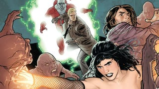 Illustration for article titled Batman's AWOL as Vampires Overrun Gotham in This Justice League Dark #7 Preview