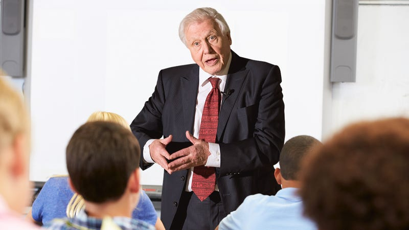 Illustration for article titled Inspiring: David Attenborough Just Told A Class Of Second-Graders That Any Of Them Could Grow Up To Stare At Animals And Describe What They're Doing