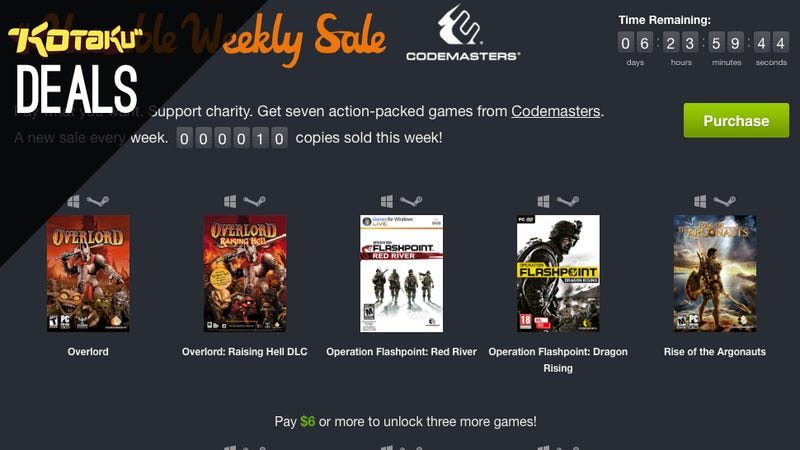 The Latest Humble Weekly Features Games From The Codemasters Catalog Including Overlord Humble