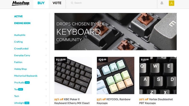 Massdrop Offers Deep Group Buying Discounts on Awesome Gear