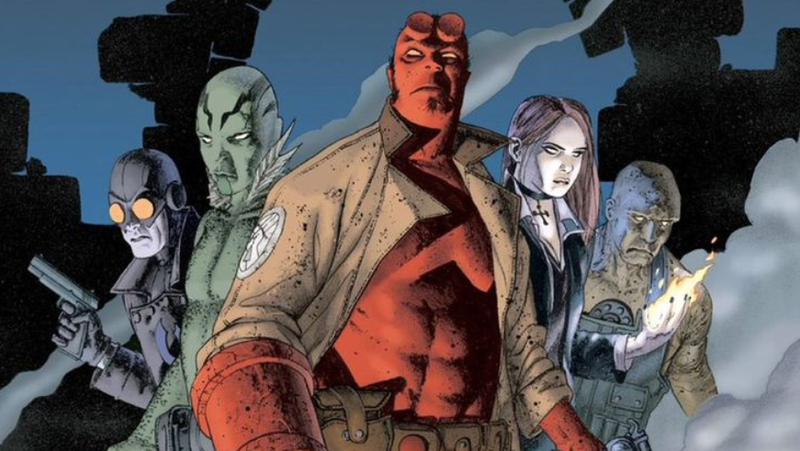 The cover of Hellboy: Weird Tales #1.