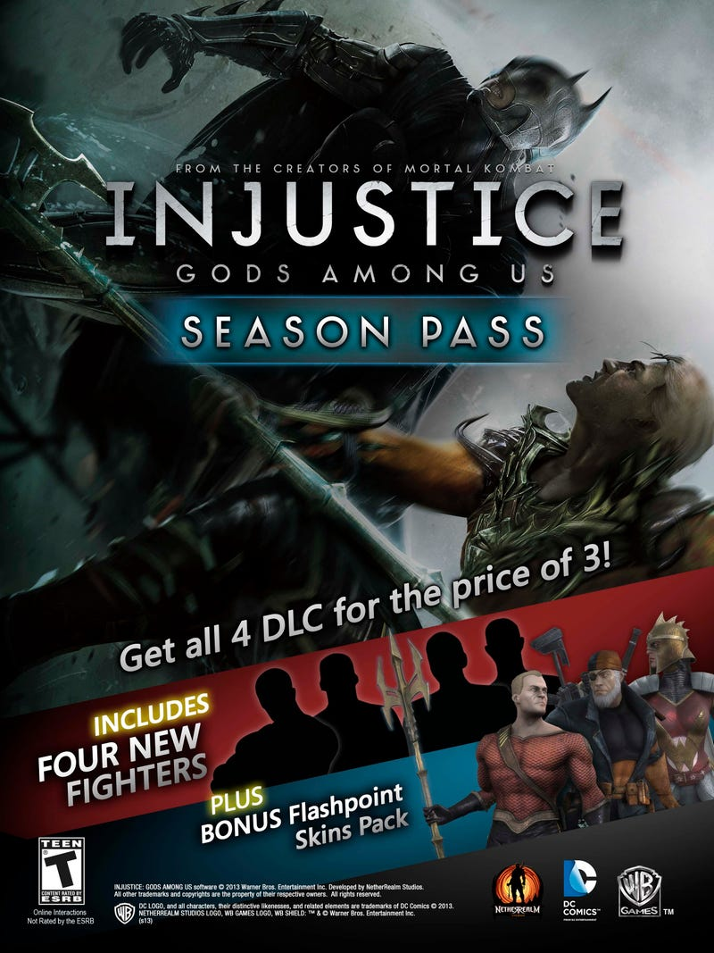 Illustration for article titled Press Release of Injustice Season Pack