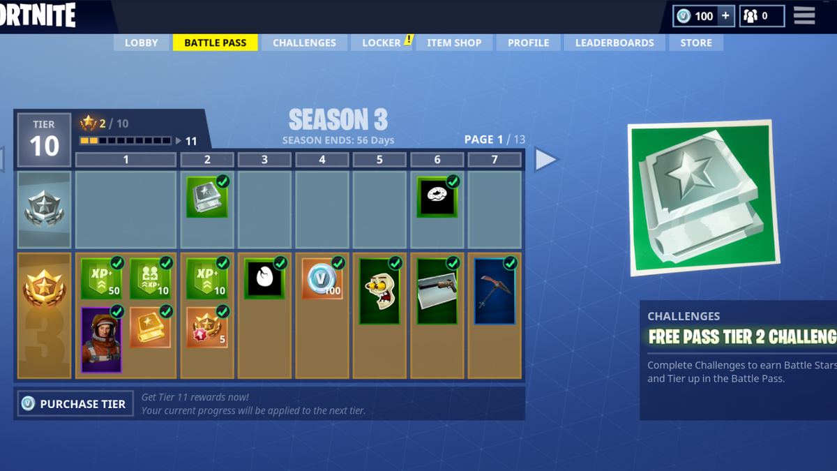Fortnite Battle Royale S 10 Battle Pass Is Nice But Not Essential