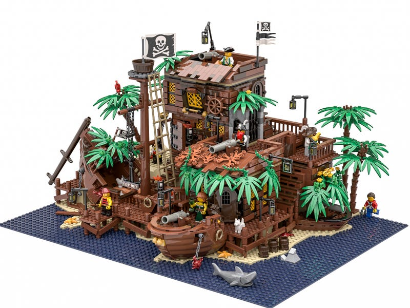 Illustration for article titled Please, LEGO, Make This Pirate Island