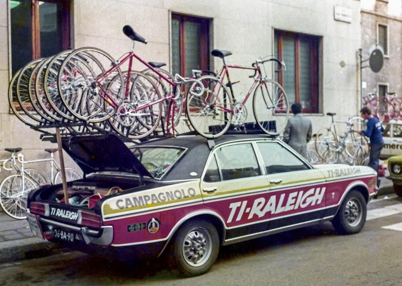 Illustration for article titled The Tour de France has started, so time to post cycling team cars