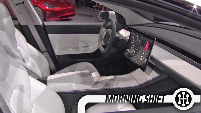 Illustration for article titled The Tesla Model 3's Minimalist Interior May Be Key To Keeping The Price Down