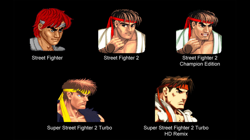 Illustration for article titled How Street Fighter's Ryu Changed Over The Years