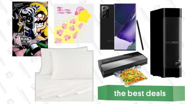 Wednesday s Best Deals: Samsung Galaxy Note 20 Ultra, UGG Bedsheets, Joker Comics, 18TB External HDD, Geryon Vacuum Sealer Machine, Kirby Art Book, and More