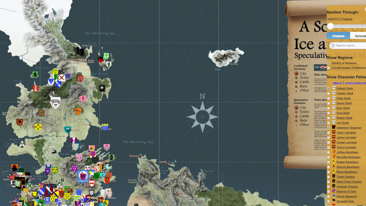 Get your game of thrones fix with this interactive spoiler proof map gumiabroncs Gallery