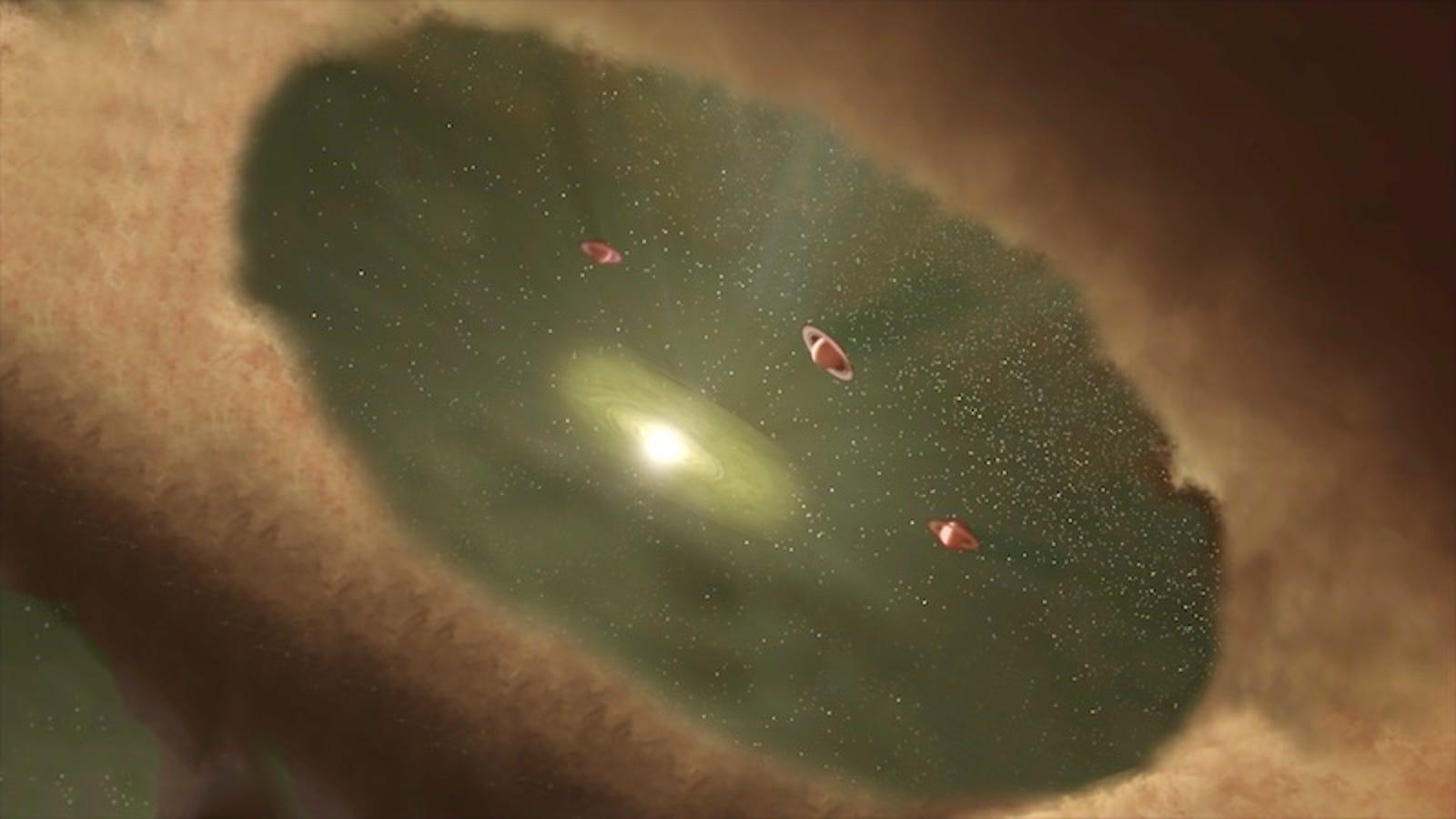 Los astrónomos asisten por primera vez en la historia al nacimiento de un planeta