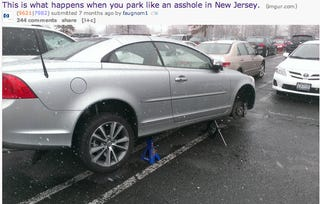 Illustration for article titled Don't park like an asshole in NJ