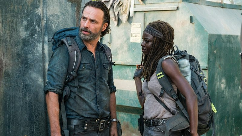 Illustration for article titled A surprise find helps Walking Dead's Rick and Michonne realize their feelings