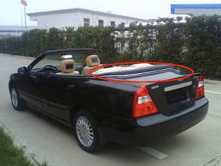 Illustration for article titled Chery Eastar Convertible, Cheapest Four-Door Convertible On Earth, Spied in China