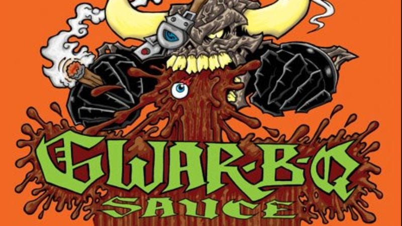 """Illustration for article titled GWAR launches its own BBQ sauce """"made out of the blood of really hot chicks"""""""