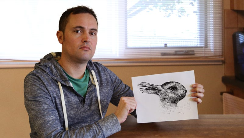Illustration for article titled Man Fears He May Never Trust Again After Treasured Picture Of Duck Turns Out To Be Rabbit