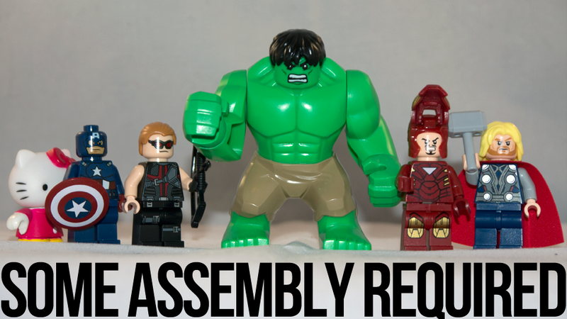 Illustration for article titled Assembling the LEGO Avengers