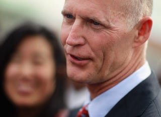 Florida Gov. Rick Scott continues his assault on the poor. (Getty Images)