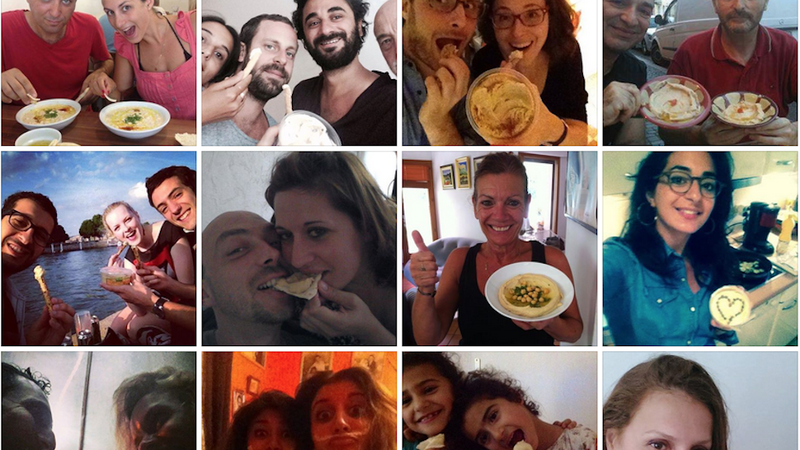 Illustration for article titled Hummus Selfies Probably Will Not End the Israel-Palestine Conflict