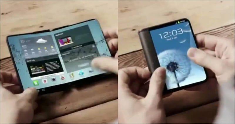 Illustration for article titled Samsung confirma equipos con pantallas plegables para 2015