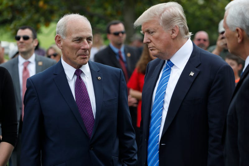 Chief of staff John Kelly with President Donald Trump
