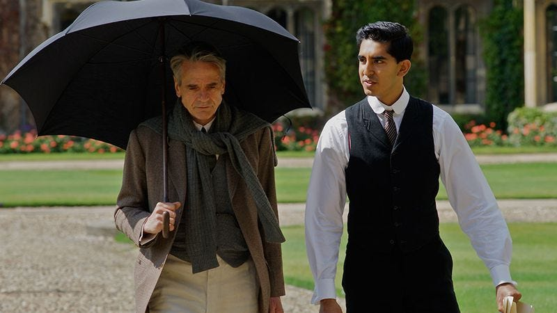 Illustration for article titled Dev Patel and Jeremy Irons solve for melodrama in The Man Who Knew Infinity
